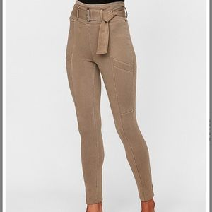 EXPRESS Super High Waisted Cotton Stretch Leggings